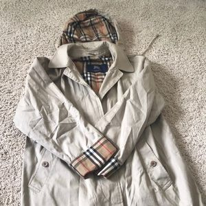 Burberry trench raincoat